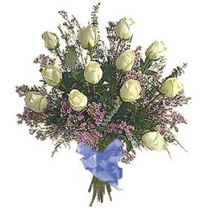 bir düzine beyaz gül buketi   Bolu çiçek gönderme sitemiz güvenlidir