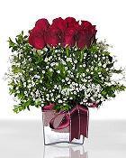 Bolu çiçek , çiçekçi , çiçekçilik  11 adet gül mika yada cam - anneler günü seçimi -