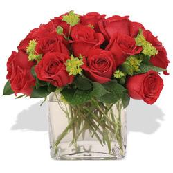 Bolu çiçekçi telefonları  10 adet kirmizi gül ve cam yada mika vazo