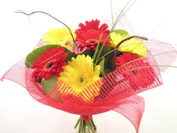 9 adet gerbera çiçeklerinden buket  Bolu çiçek satışı
