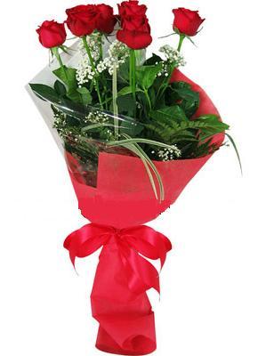 7 adet kirmizi gül buketi  Bolu çiçek yolla , çiçek gönder , çiçekçi