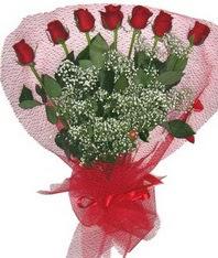 7 adet kipkirmizi gülden görsel buket  Bolu çiçek mağazası , çiçekçi adresleri