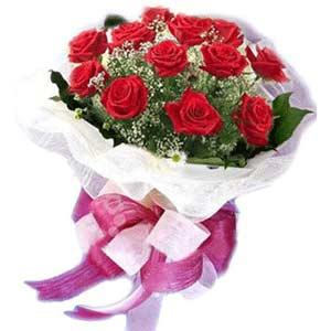 Bolu çiçek satışı  11 adet kırmızı güllerden buket modeli