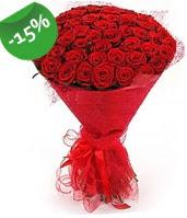 51 adet kırmızı gül buketi özel hissedenlere  Bolu çiçek siparişi sitesi
