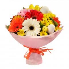 Karışık mevsim buketi Mevsimsel çiçek  Bolu internetten çiçek siparişi