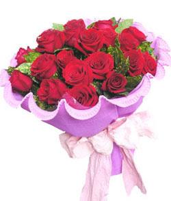 12 adet kırmızı gülden görsel buket  Bolu çiçekçi mağazası