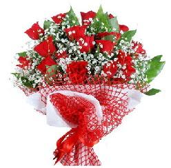 11 kırmızı gülden buket  Bolu 14 şubat sevgililer günü çiçek