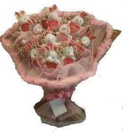 12 adet tavşan buketi  Bolu çiçek mağazası , çiçekçi adresleri