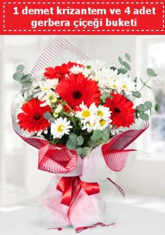 Krizantem ve Gerbera Buketi  Bolu çiçek siparişi sitesi