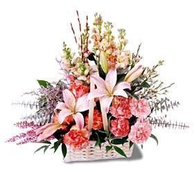 Bolu çiçek siparişi sitesi  mevsim çiçekleri sepeti özel tanzim