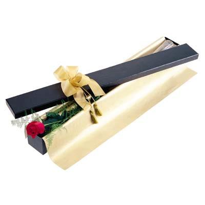 Bolu uluslararası çiçek gönderme  tek kutu gül özel kutu