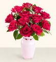 Bolu hediye çiçek yolla  10 kirmizi gül cam yada mika vazo tanzim