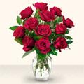 Bolu çiçek yolla  10 adet gül cam yada mika vazo da