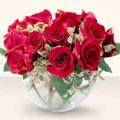 Bolu çiçek online çiçek siparişi  mika yada cam içerisinde 10 gül - sevenler için ideal seçim -