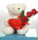 3 adetgül ve oyuncak   Bolu online çiçekçi , çiçek siparişi