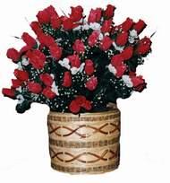 yapay kirmizi güller sepeti   Bolu kaliteli taze ve ucuz çiçekler