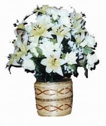 yapay karisik çiçek sepeti   Bolu çiçek mağazası , çiçekçi adresleri