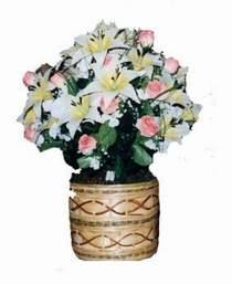 yapay karisik çiçek sepeti   Bolu çiçek servisi , çiçekçi adresleri