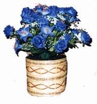 yapay mavi çiçek sepeti  Bolu cicekciler , cicek siparisi