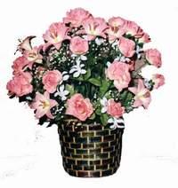 yapay karisik çiçek sepeti  Bolu çiçek online çiçek siparişi