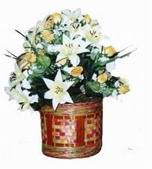 yapay karisik çiçek sepeti   Bolu cicekciler , cicek siparisi