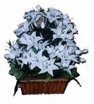 yapay karisik çiçek sepeti   Bolu online çiçek gönderme sipariş