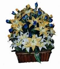 yapay karisik çiçek sepeti   Bolu çiçek gönderme