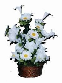 yapay karisik çiçek sepeti  Bolu çiçek siparişi vermek