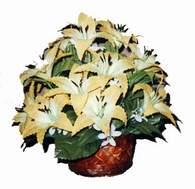 yapay karisik çiçek sepeti   Bolu çiçek siparişi sitesi