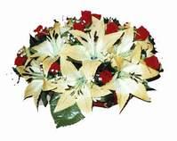yapay karisik çiçek sepeti   Bolu internetten çiçek siparişi