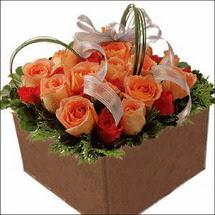 kare sandikta 11 gülllerden   Bolu çiçekçi mağazası