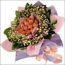 11  adet  gül ve   elyaflar   Bolu çiçekçi mağazası
