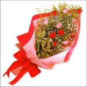 12 adet renkli  gül buketi   Bolu çiçekçi mağazası