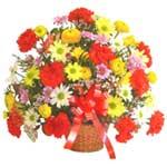 karisik renkli çiçek sepet   Bolu çiçek gönderme sitemiz güvenlidir