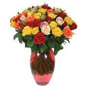 51 adet gül ve kaliteli vazo   Bolu çiçek gönderme sitemiz güvenlidir