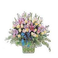 sepette kazablanka ve güller   Bolu çiçek gönderme