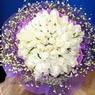 71 adet beyaz gül buketi   Bolu çiçek , çiçekçi , çiçekçilik