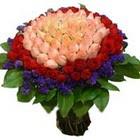 71 adet renkli gül buketi   Bolu ucuz çiçek gönder