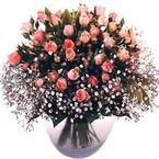 büyük cam fanusta güller   Bolu çiçek yolla