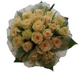 12 adet sari güllerden buket   Bolu uluslararası çiçek gönderme