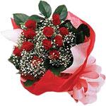 Bolu internetten çiçek satışı  KIRMIZI AMBALAJ BUKETINDE 12 ADET GÜL