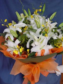 Bolu internetten çiçek satışı  5 ADET KAZABLANKA BUKETI KALITEDEN SASMAYANLARA