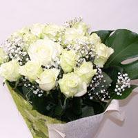 Bolu hediye çiçek yolla  11 adet sade beyaz gül buketi