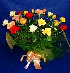 Bolu hediye çiçek yolla  13 adet karisik renkli güller