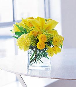 Bolu ucuz çiçek gönder  sarinin sihri cam içinde görsel sade çiçekler