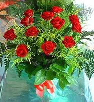 12 adet gül buketi  Bolu anneler günü çiçek yolla