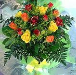 13 adet karisik gül buketi demeti   Bolu uluslararası çiçek gönderme