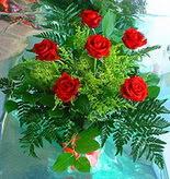 6 adet kirmizi gül buketi   Bolu online çiçek gönderme sipariş