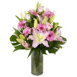 vazo içerisinde karisik mevsim çiçekleri  Bolu internetten çiçek siparişi