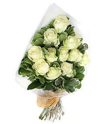 Bolu online çiçekçi , çiçek siparişi  12 li beyaz gül buketi.